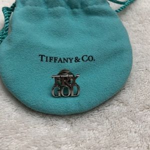 Tiffany & Co. TRY GOD pin (authentic silver)